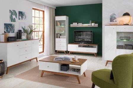 Black Red White Euro Furniture